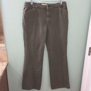 J. Jill Out of The Blue Women's Green Denim Jeans